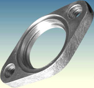 Diamond-shaped flange